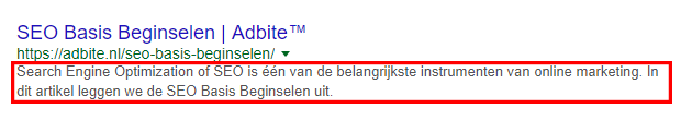 SEO-omschrijving