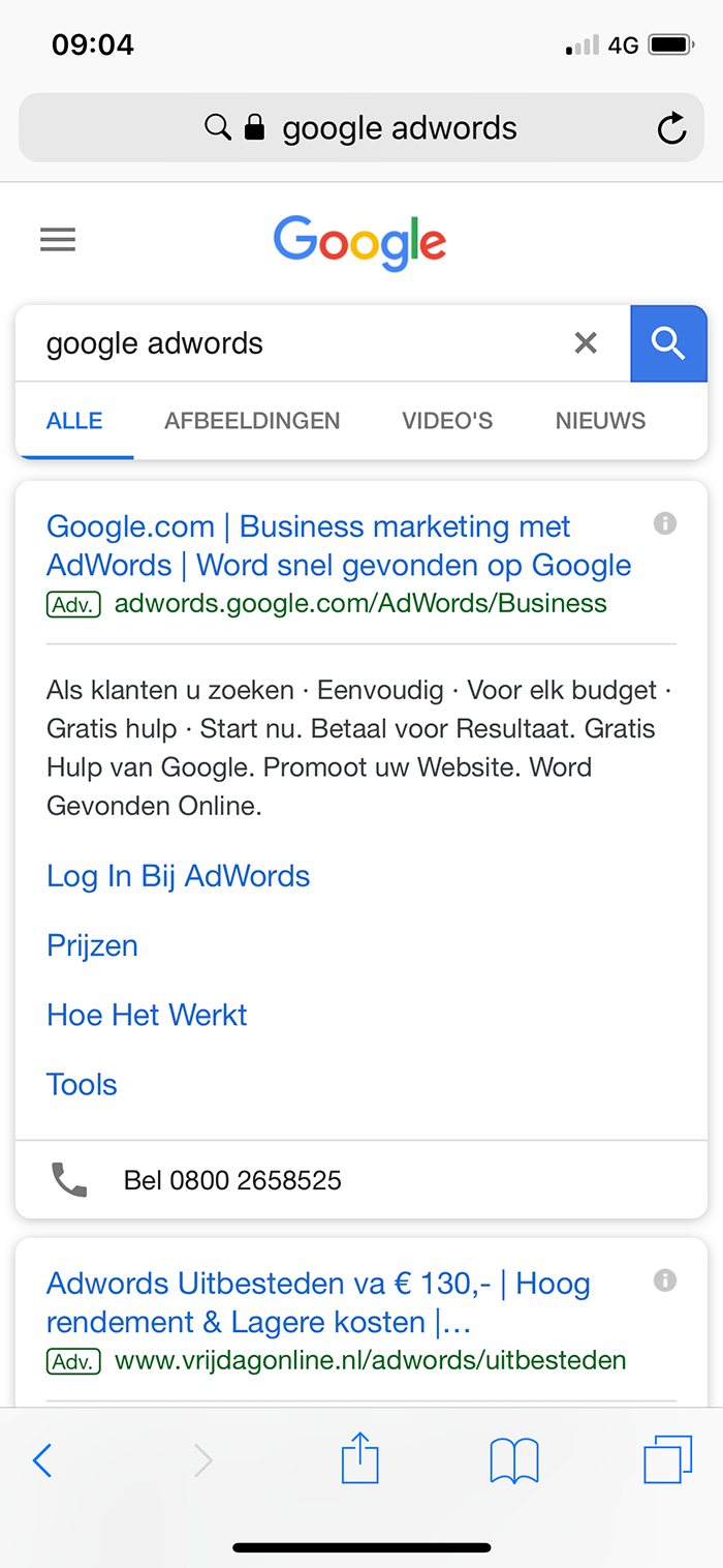 Google Ads Mobile